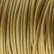Läderband Metallic Gold 2mm 1meter