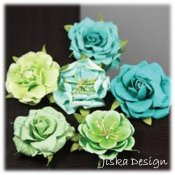 Lilleput Roses Lime 6-pack
