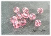 Swarovski Kristall Light Rose 4mm 10st