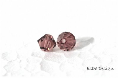 Fasetterad Bicon Dark Rose 6mm 10st
