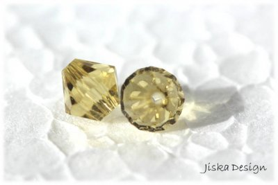 Fasetterad Bicon Citrine 6mm 10st