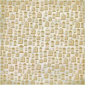 Mariposa Tan Cages Gold 30x30cm