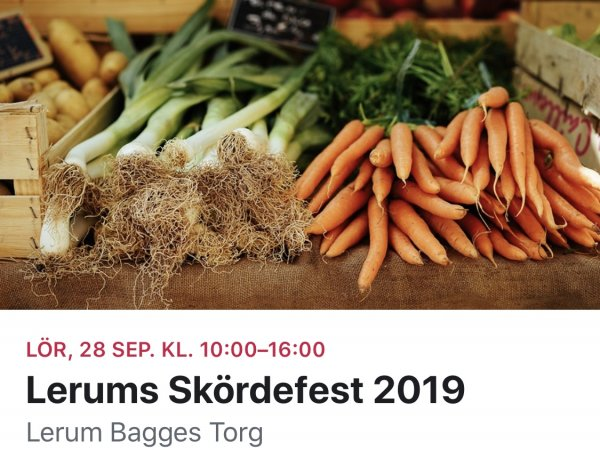 Skördefest i Lerum 28 september
